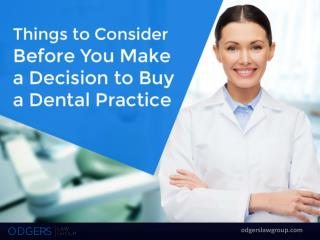 Hire a Dental Attorney in San Diego to Buy a Dental Practice