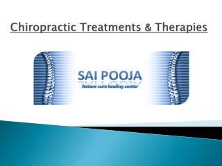 Chiropractic Therapies -  Back pain and Neck pain specialist