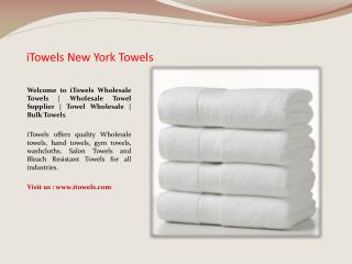Hotel Towels Wholesale New York