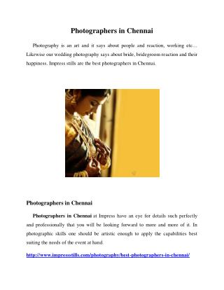 Photographers in Chennai