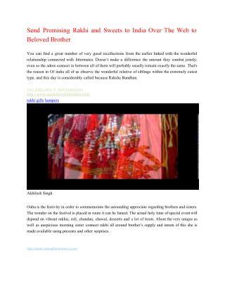 Send Amazing Rakhi and Rakhi Surprise to India Over the Web