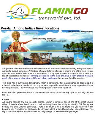 Best Places to Visit in Kerala - Flamingotravels