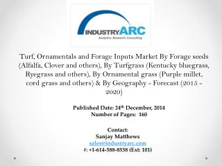 Turf, Ornamentals and Forage Inputs Market led by Americas previously; trend to continue.