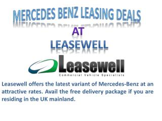 Mercedes Benz Leasing Deals