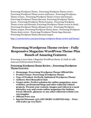 Powermag Wordpress Theme review - (free) jaw-drop bonuses