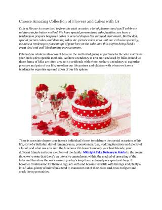 Choose Amazing Collection of Flowers and Cakes with Us
