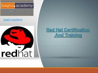 Red Hat Certification And Training