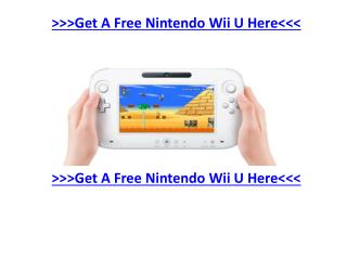 Getting A Free Nintendo Wii U By signing Up