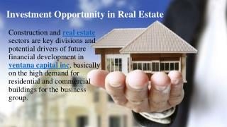 Investment opportunity in real estate