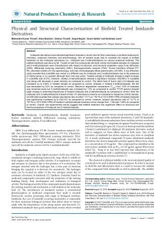 Imidazole & 2-Methylimidazole   UV-Vis Spectrum