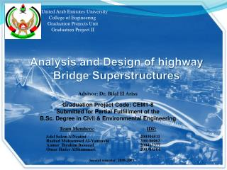 United Arab Emirates University       College of Engineering      Graduation Projects Unit         Graduation Project II