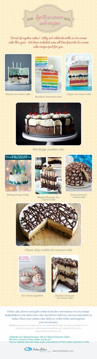 10 Best Ice Cream Cake Recipes - Party Cakes/Special Occasion Cakes