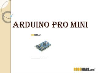 Arduino Pro Mini Price India - Robomart