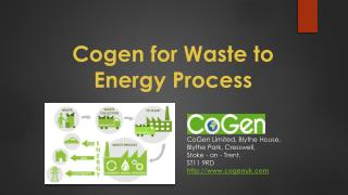 Cogen Limited Using Advanced Waste to Energy Technology
