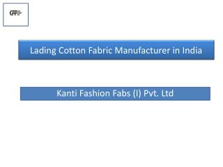One of The Top 10 Cotton Fabric Manufacturer in India