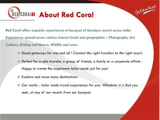 Red Coral Resorts