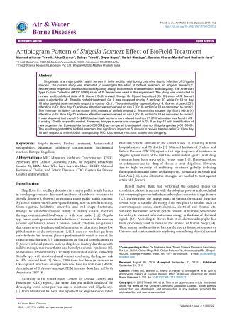Antibiogram Pattern of Shigella flexneri Effect of BioField Treatment