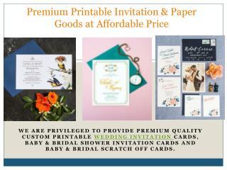 Premium Printable Invitation & Paper Goods at Affordable Price