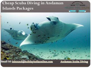 Cheap Scuba Diving in Andaman Islands Packages in India