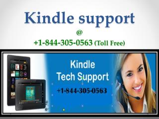 Online Kindle Support @1-844-305-0563 (Toll Free)