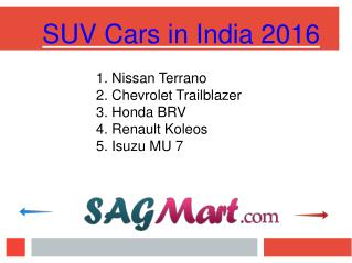 PPT - Know About The SUV Cars in India 2016
