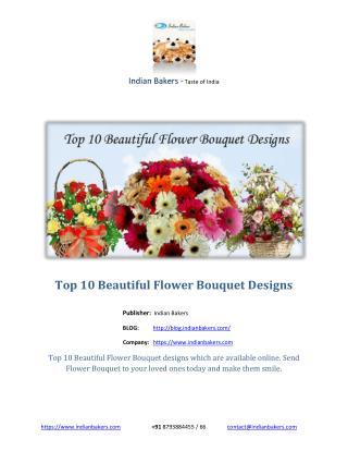 Top 10 Beautiful Flower Bouquet Designs
