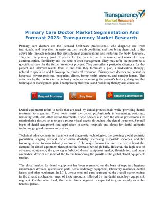 Primary Care Doctor Market Segmentation And Forecast 2023: Transparency Market Research