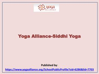 Yoga Alliance-Siddhi Yoga