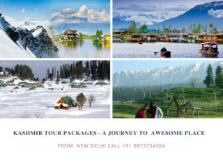 Kashmir tour packages - A journey to awesome place