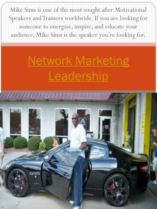 network marketing leader