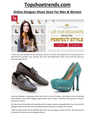 Topshoetrends.com- Top Shoe Trends
