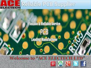 Get Professional PCB Manufacturer and Supplier in China