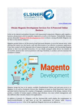 Obtain Magento Development Services For A Protected Online Business