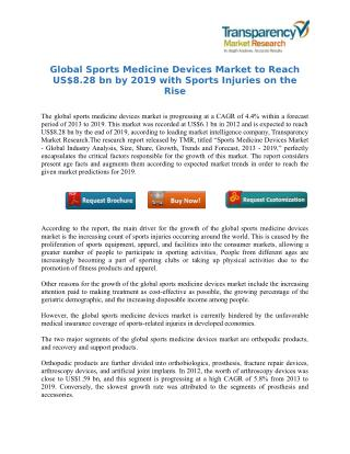 Global Sports Medicine Devices Market to Reach US$8.28 bn by 2019 with Sports Injuries on the Rise