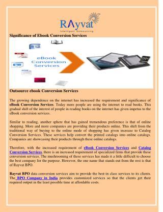Outsource ebook Conversion Services