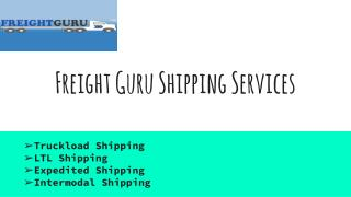 Freight Guru Shipping Services