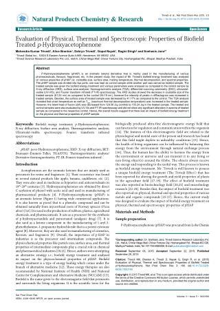 Evaluation of p-Hydroxyacetophenone FT-IR Spectrum