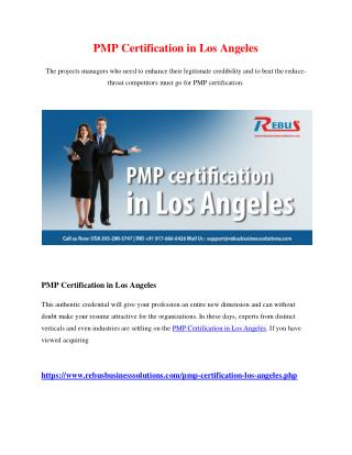 PMP certification in Los Angeles