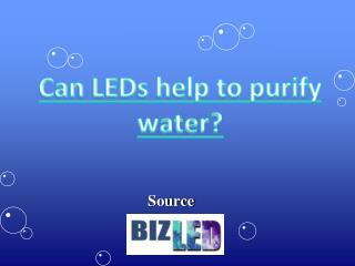 Can LEDs help to purify water?