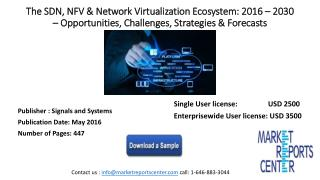 The SDN, NFV & Network Virtualization Ecosystem: 2016 – 2030 – Opportunities, Challenges, Strategies & Forecasts