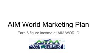 AIM World Marketing Plan