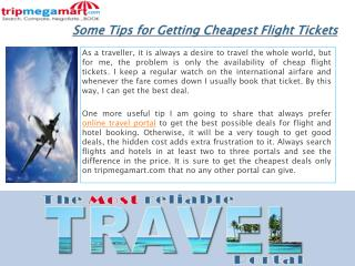 Some Tips for Getting Cheapest Flight Tickets