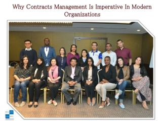 Why Contracts Management Is Imperative In Modern Organizations
