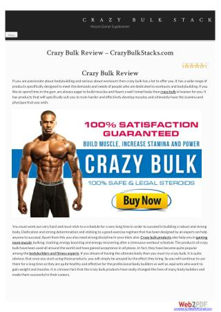 Crazy Bulk | Crazy Bulk Reviews