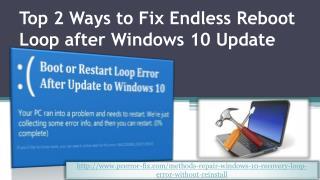 Top 2 Ways to Fix Endless Reboot Loop after Windows 10 Update