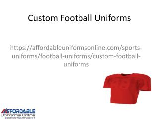 Custom Football Uniforms