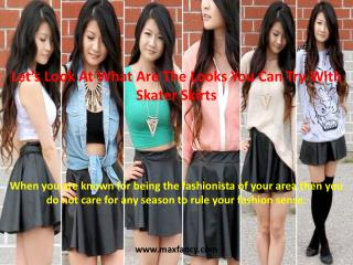 Let's Look At What Are The Looks You Can Try With Skater Skirts