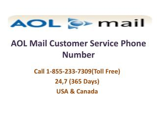 AOL Mail Support Number **18552337309 Aol Mail Customer Service Phone Number