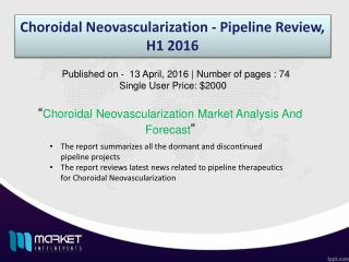 Choroidal Neovascularization - Pipeline Review, H1
