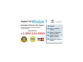 Get Reliable Windows 7 Technical Support  1-800-244-8809